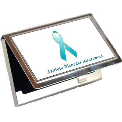 Anxiety Disorder Awareness Ribbon Business Card Holder