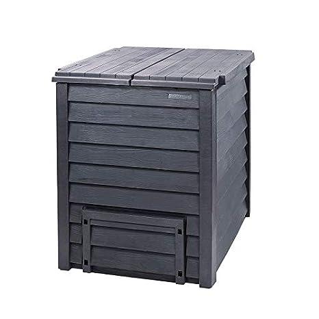 Thermo-Wood - Compostador (600 L), color gris y marrón: Amazon.es: Bricolaje y herramientas