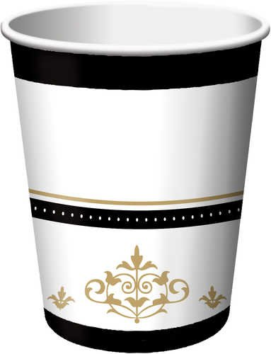 Stafford-Gold-Wedding-and-Anniversary-Paper-9-oz-HotCold-Cups-18-Per-Pack