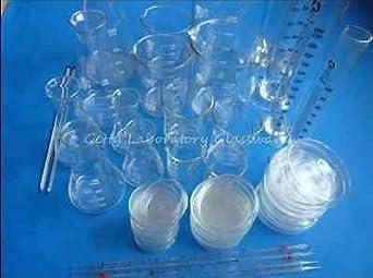 Laboratorio de Química cristalería Kit, Lab cristalería Kit, Material de Pyrex