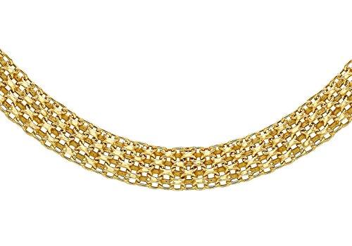 "Jewellery World Bague en or jaune 9carats Bismark-Collier Femme-46cm/18"""