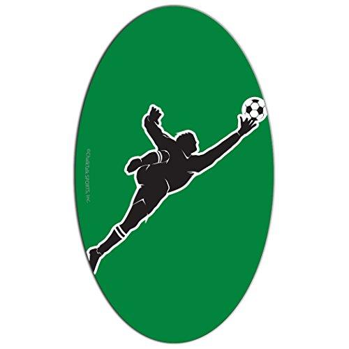 (ChalkTalkSPORTS Soccer Car Magnet | Guys Soccer Goalie Silhouette | Green)