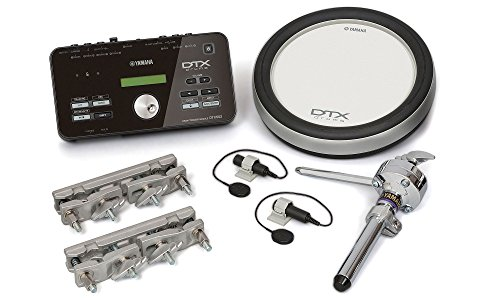 Yamaha DTX Hybrid Electronic Drum Pack with DTX502 Module, XP80 3-Zone Silicone Drum Pad, Triggers and Mounts (Mount Yamaha Drum)