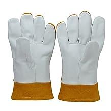 Premium TIG/MIG Split Grain Goatskin Protection Gloves