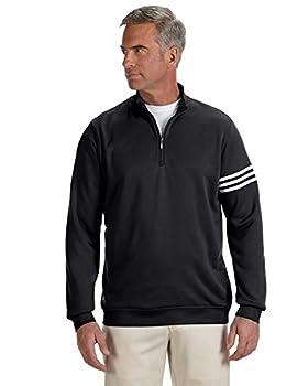 Adidas A190 Mens Climalite 3-stripes Pullover - Black & White, Xl 0