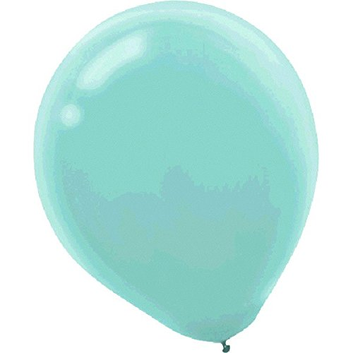 Plain Latex Balloons - Robin's Egg Blue, Pack of 72, Party Decor