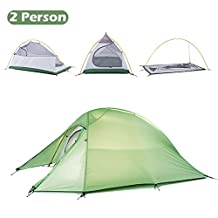 Triwonder 1-2-3 Person 4 Season Camping Tent Lightweight Waterproof Double Layer Backpacking Tent for Camping Hiking