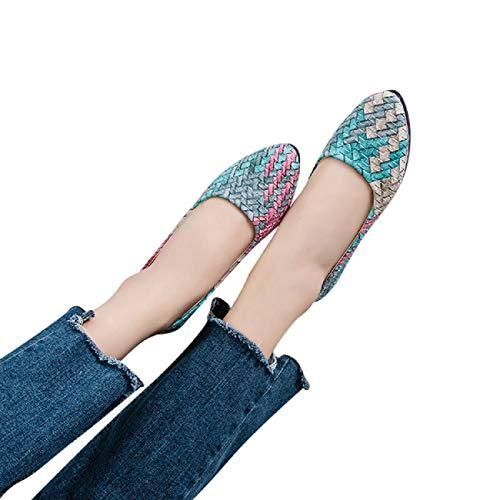 Colores Femeninos Bastante Mujeres Las Linlink Mixta Verde Primavera De Mujer Planos Niña Zapatos Casual Sandalias qPZ7vE