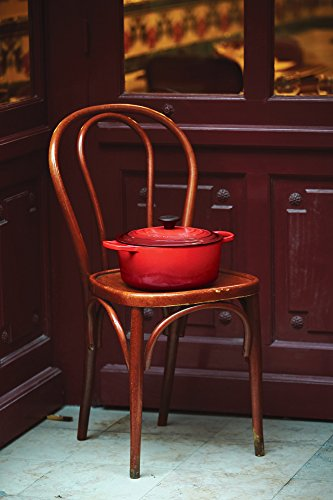 Le Creuset Shallow Dutch French Oven, 2.75 quart, Cerise (Cherry Red) by Le Creuset (Image #2)