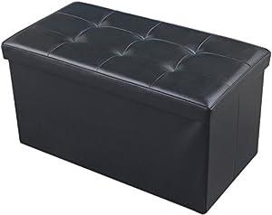 Amazon Com Jaf Home Bedroom Faux Leather Folding Storage