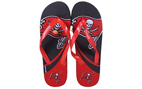 Voor Altijd Collectibles Happy Feet Heren En Dames Officieel Gelicentieerd Groot Logo Teenslippers Tampa Baai Boekaniers
