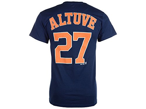 Majestic Jose Altuve Houston Astros Official Name and Number T-Shirt - Navy (XX-Large)