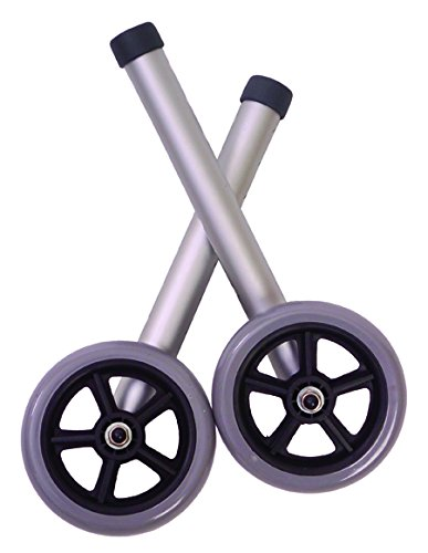 Essential Medical Supply Universal Fixed Walker Wheels, 5 Inch by Essential Medical Supply