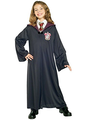 Rubie's 884253-M Costume Co Harry Potter Child's Hermione Granger Gryffindor Robe, Medium, Black