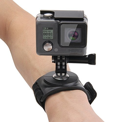 Shoot® Arm- Handgelenkhalterung Armgurt Halterung für Gopro Hero 6, 5, 4, 1, 2, 3, 3+ Session 5, 4 und andere Kleine Kameras und Sport-Camcorder mit 360 Grad Adapter (Typ A)