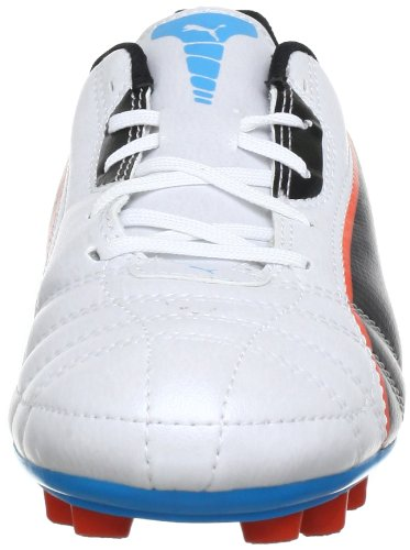 Puma Universal FG Jr Unisex-Kinder Fußballschuhe Weiß (metallic white-black-hawa 03)
