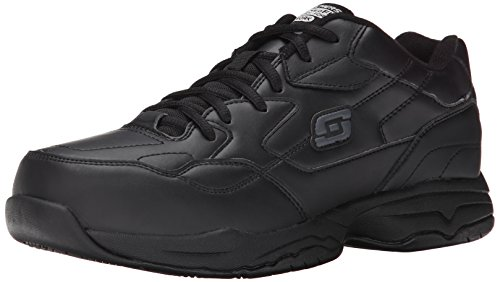 Skechers for Work Men's Felton Shoe, Black, 14 XW US (Best Skechers For Walking On Concrete)