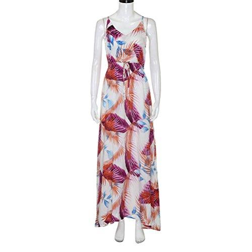 Hot Party Dress Evening Dresses Boho Women Pink Long Beach Summer Sundress Creazy qxwXOv6n