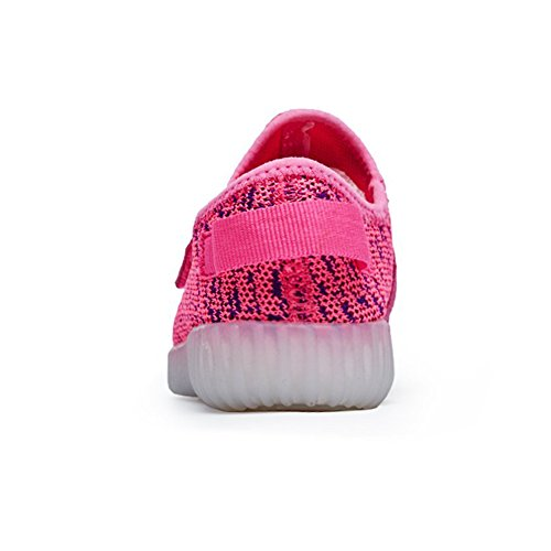 rose Clignotants 7 LED Course USB de Aidonger Sport Chaussure Charge Unisexe de Chaussure Homme Lumineux Couleurs Femme qfaxw0xZp