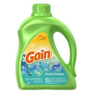 Gain With Freshlock Ocean Escape Liquid Detergent 64 Loads 100 Fl Oz (Pack of 4)