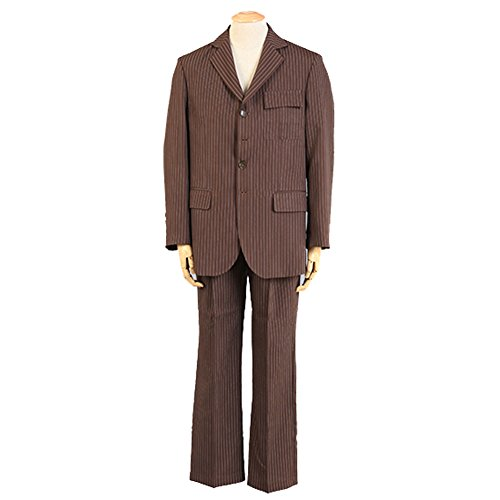 [Beautyshop Doctor Who Tenth Doctor David Tennant Brown Suits Cosplay Costume Brown] (David Tennant Who Costume)