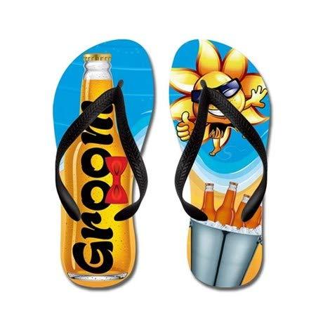 Lplpol Groom Beer Beach Flip Flops for Kids Adult Beach Sandals Pool Shoes Party Slippers Black Pink Blue Belt for Chosen