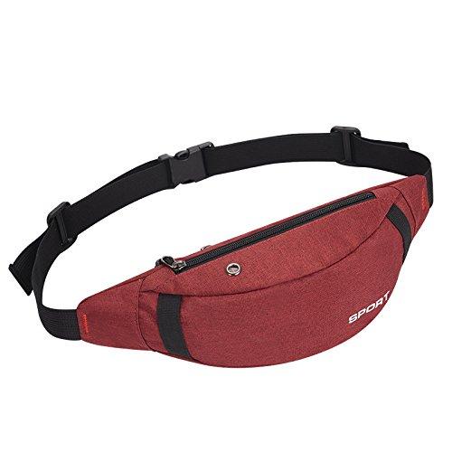 red Ocasional Pecho Shangpu123 Material Cintura Bolso La 13 Tela 36 Nylon Los Unisex Impermeable Deportes De Del 12cm wq4wOTAC