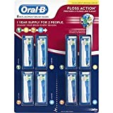 Oral-B Floss Action Tooth Brush Refills Replacement Heads, 8ct