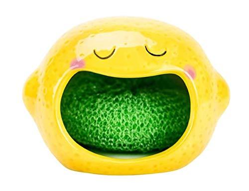 Lemon Sponge - Lemon Ceramic Scrubby Holder