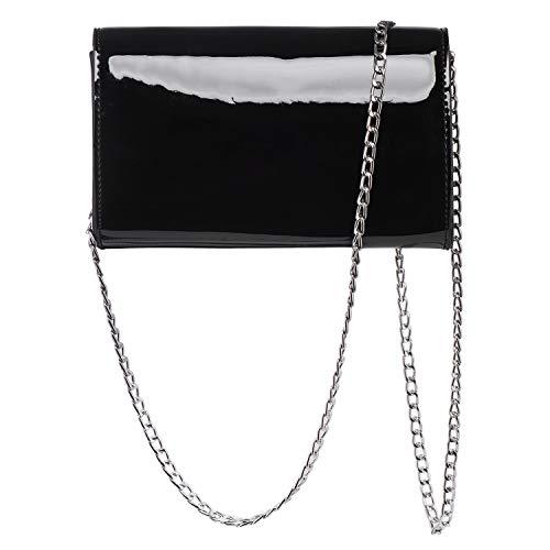Black cross Shoulder Party Envelope Bag Handbag Evening Purse bag Clutch body Bridal Women 74qFRwnxq
