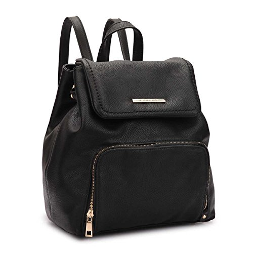 Casual 7170 Bag Women MKY Drawstring Classic Backpack Leather Faux Fashion black Daypack Shoulder College 6x0xq7waT