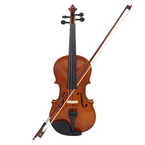 B Blesiya 3/4 Natural Wooden Basswood Violin Fiddle Violin Bow Rosin Bag for Student by B Blesiya