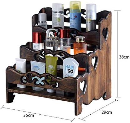 YSXZM Organizador De Maquillaje, Caja Almacenamiento Madera Estante Tocador Sobremesa Tidy Organizador Almacenamiento Maquillaje Gran Capacidad Mantener Su Tocador Escritorio Más Ordenado (Size : C): Amazon.es: Hogar