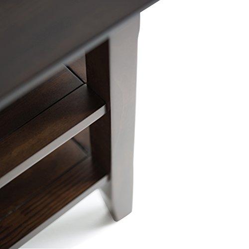 Simpli Home Acadian Solid Wood Narrow Side Table, Tobacco Brown by Simpli Home (Image #3)