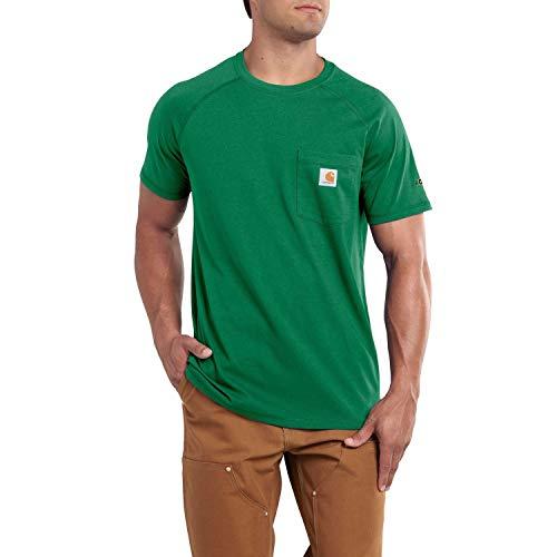 (Carhartt Men's Force Cotton Short Sleeve T-Shirt Relaxed Fit (Forest Green,)