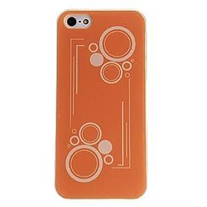 Círculos Ronda Patrón Hard Case PC con marco transparente para iPhone 5/5S