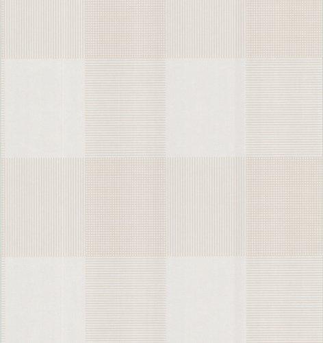 Brewster 141-62141 Geometric Plaid on Crackle Texture Wallpaper, Beige ()