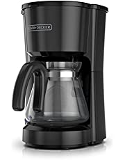 BLACK+DECKER Coffee Maker, 5 Cup, Small Space-Saving Compact Design, Black, CM0700BZ