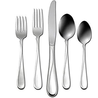 Oneida Flight 20-Piece Stainless Steel Flatware Set, Service for 4