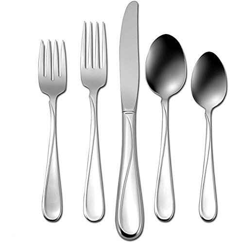 Fine Stainless Flatware Place - Oneida Flight 20-Piece Stainless Steel Flatware Set, Service for 4
