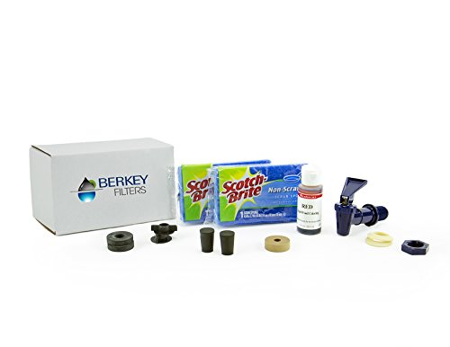 Berkey Maintenance Kit Light - Includes Free Trouble Shooting Booklet and Red Dye