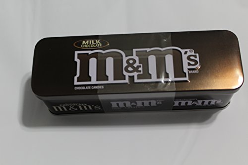 M&M's Snack Size Candies in a Collectible Nostalgic Tin 3.5 Oz