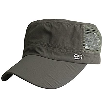 b7c1f1a878d FakeFace Unisex Women Men Adjustable Army Cadet Castro Patrol Baseball Hat  Breathable Cotton Mesh Flat Top