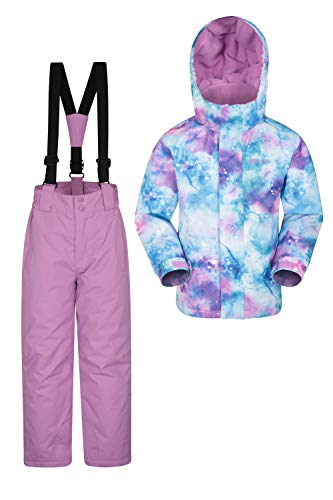 Mountain Warehouse Kids Ski Jacket & Pants Set – Winter Snowsuit Package
