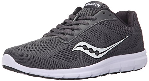 Saucony Women's Grid Ideal Running Shoe, Grey/White, 9.5 M US ()