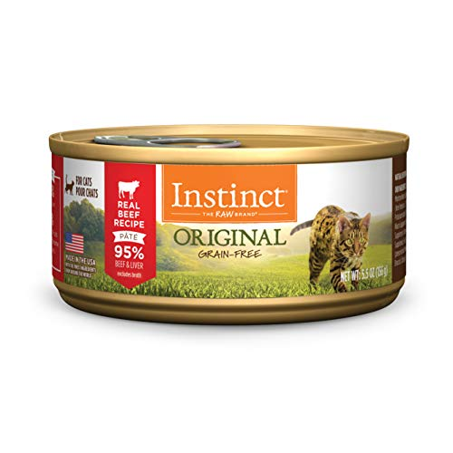 Instinct Original Grain Free Real Beef Recipe Natural Wet Canned Cat Food by Nature's Variety, 5.5 oz. Cans (Case of 12)