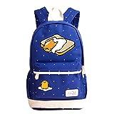 Siawasey Gudetama Lazy Egg Backpack Cartoon Laptop Daypack Shoulder School Bag (Dark Blue4)