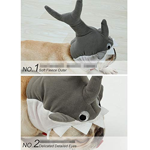 JHHXW Pet Shark Hat Super Cute Cute Transforming Head Cover Christmas Cat Puppy Headwear 3D Dress Cap,S by JHHXW (Image #1)