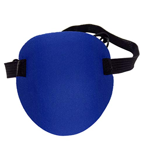Binory UK Concave 3D Eye Patch Foam Groove Washable Eyeshades with Adjustable Strap for Kids Adults to Soothe Eyes, One-Eyed Mask for Masquerade/Pirate Theme Party/Halloween/Cosplay Party Supply(B)]()