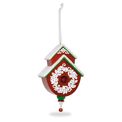 Hallmark Keepsake 2017 Red and Green Beautiful Birdhouse Christmas Ornament ()
